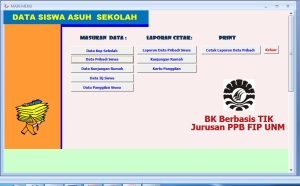 Tampilan Desktop Database BK