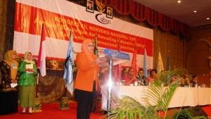 Sekretaris ABKIN SULSEL menyampaikan pandangan umum terhadap laporan pertanggung jawaban Ketua PB ABKIN